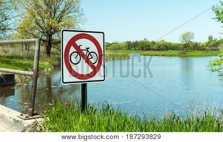Do Not Bike Sign In The Park