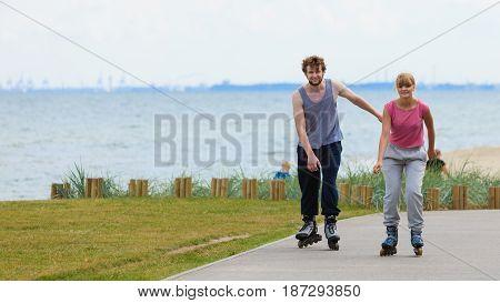Boy Chasing His Girlfriend.