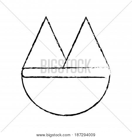 line beautyful and natural mountains ecology, vector illustration design