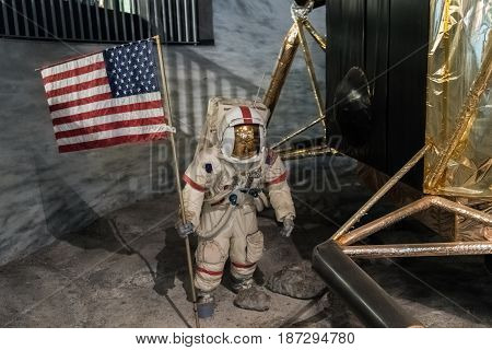 Space Man On A Station On The Moon