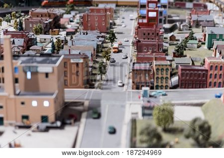 Toy Miniature Seattle City And Suburbs Installation