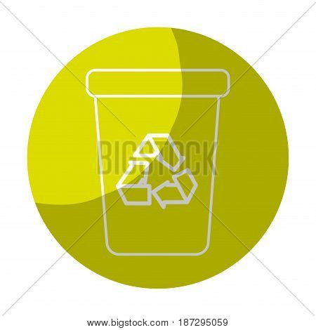 sticker recycle can trash to care environment, vector illustration