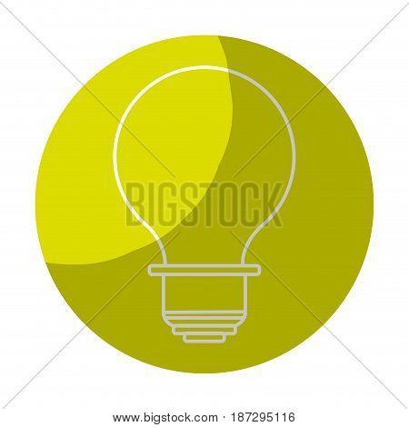 sticker energy light bulb icon, vector illustration design