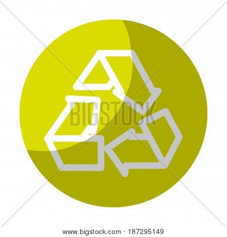 sticker reduce, recycle and reuse environment symbol, vector illustration