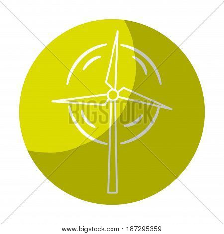 sticker nature and organic windpower ecology care, vector illustration