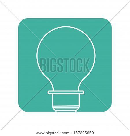 label energy light bulb icon, vector illustration design