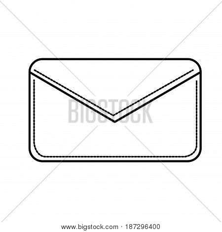 line nice letter close with important message, vector illustration