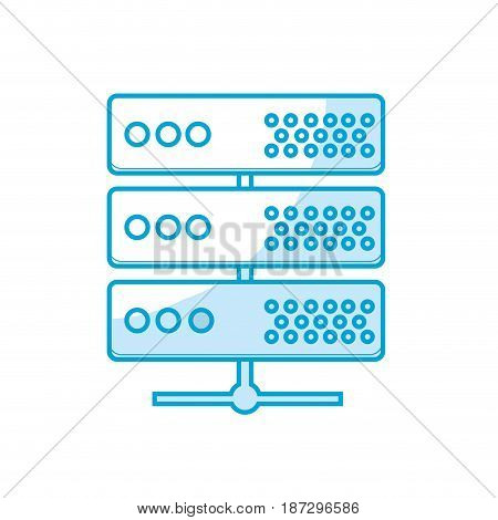 silhouette digital router to connect data center, vector illustration