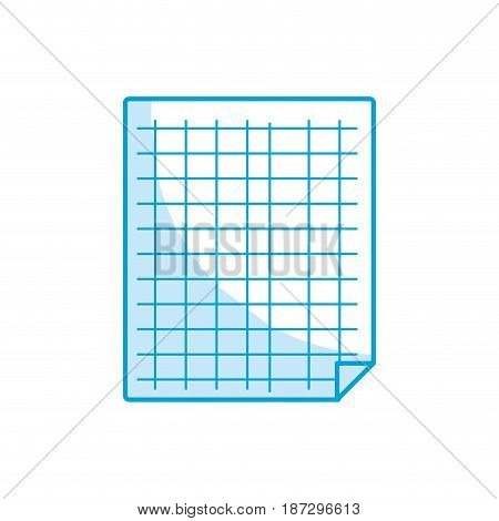 silhouette grid sheet to study and write activities, vector illustration