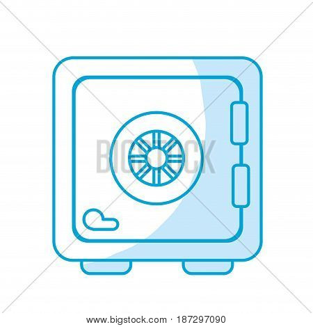 silhouette strongbox close to security of special thing, vector illustration