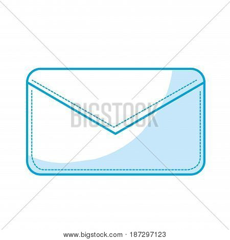 silhouette nice letter close with important message, vector illustration