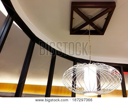 Stylish Asian Styled Lamp Hanging from the Ceiling