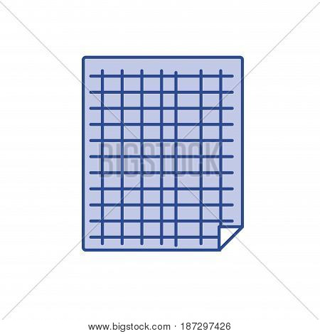 grid sheet to study and write activities, vector illustration