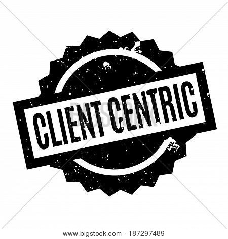 Client Centric rubber stamp. Grunge design with dust scratches. Effects can be easily removed for a clean, crisp look. Color is easily changed.