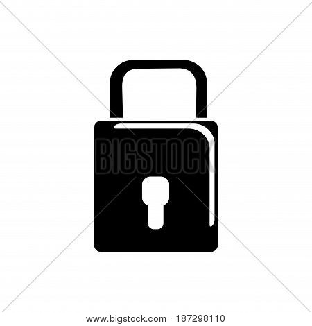 contour padlock to have sacurity the special thing, vector illustration