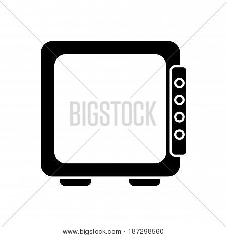 contour strongbox open with nothing thing inside, vector illustration