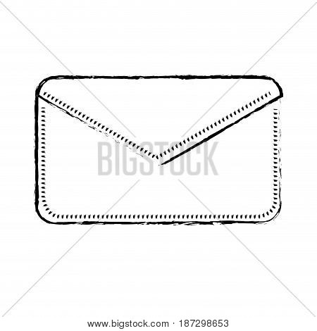 figure nice letter close with important message, vector illustration
