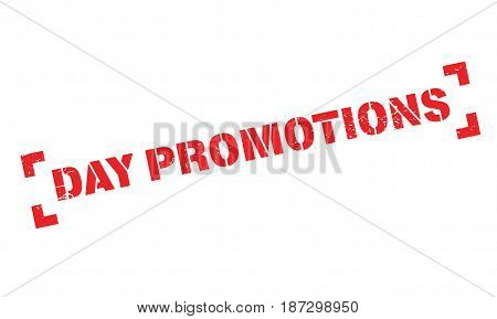 Day Promotions rubber stamp. Grunge design with dust scratches. Effects can be easily removed for a clean, crisp look. Color is easily changed.