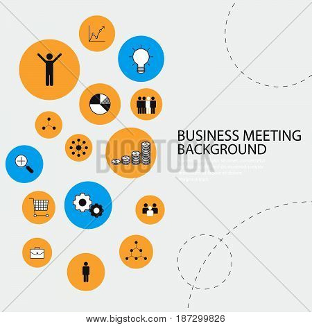 business management background icon idea illustration graphic