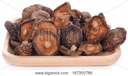 Dried shiitake mushroom natural, fresh, brown, studio, nobody, close