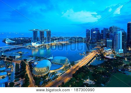 Singapore city skyline Singapore's business district Singapore