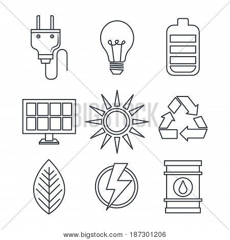 Hand drawn eco friendly related objects over white background. Vector illustration.