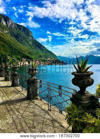 View of Lake Como toward Bellagio Italy