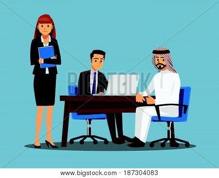 Business People teamwork Vector illustration cartoon character.