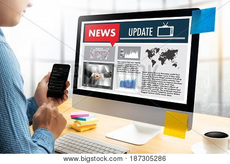 New Update Headline Media Live Broadcast Media Talking Communication