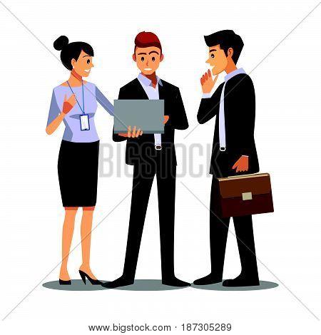 businessmen consulting business work teamwork job  office