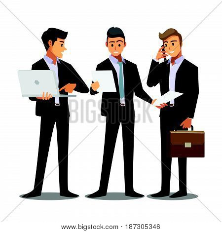 businessmen consulting business work teamwork job consult
