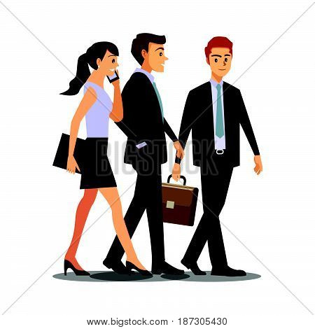 businesss and office concept -businessmen consulting Vector illustration cartoon character