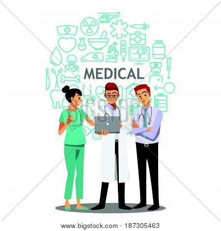 medical doctors team meeting hospital job nurse working
