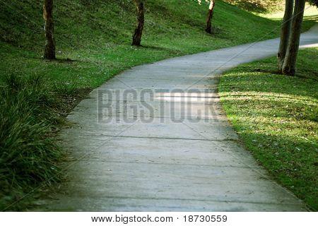 footpath, garden,