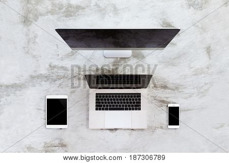 new modern communication device on top view