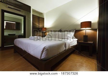 beauty bedroom decor interior design on night