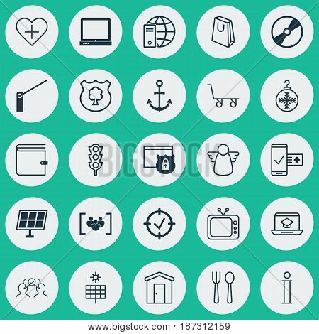 Set Of 25 Universal Editable Icons. Can Be Used For Web, Mobile And App Design. Includes Elements Such As Approved Target, Cargo Cart, Timber And More.