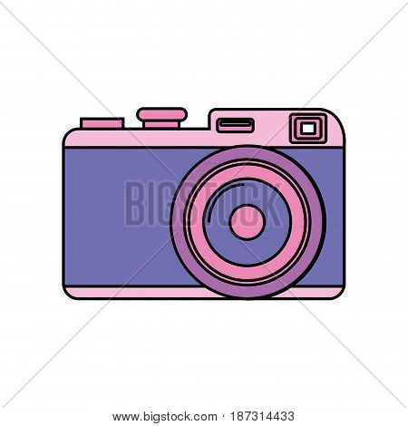 cute digital camera to take a picture, vector illustration