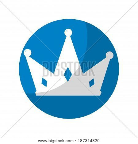 sticker nice crown of king to glory and pawer, vector illustration