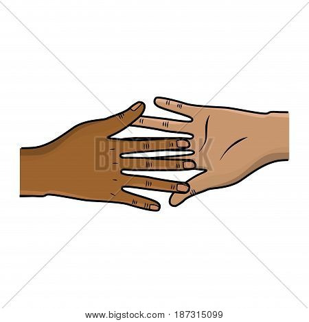 hands giving the peace and friendship, vector illustration