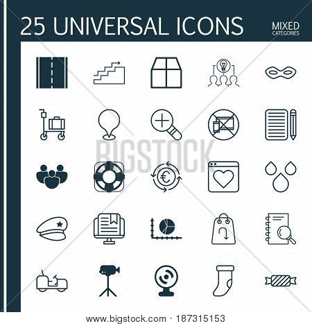 Set Of 25 Universal Editable Icons. Can Be Used For Web, Mobile And App Design. Includes Elements Such As Refund, Currency Recycle, Agrimotor And More.