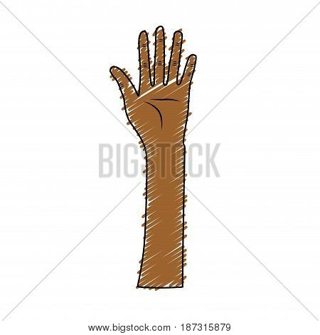 cute hand up celebrating special day, vector illustration