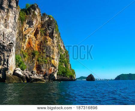 Tropical landscape. The island at Andaman sea at Thailand