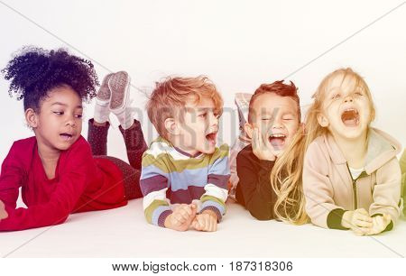 Group of children participating in an activity