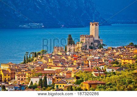 Town Of Malcesine On Lago Di Garda
