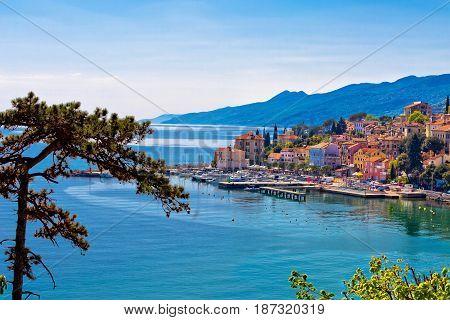 Town Of Volosko Waterfront Panoramic View