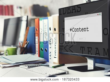 Web Design Page Content Hashtag Graphic Word