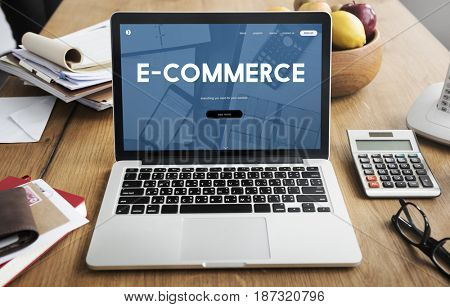 E-commerce Business Digital Marketing Word