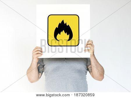Flammable danger hazard marking caution sign