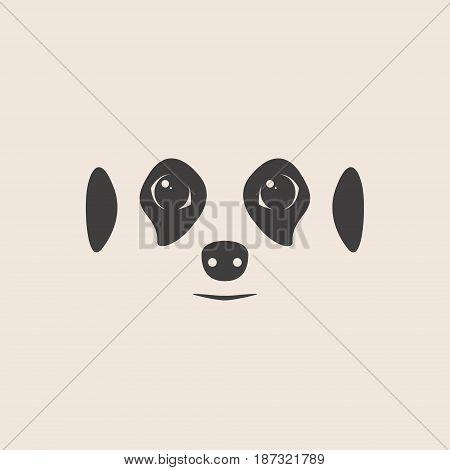 Meerkat face. Meerkat mascot idea for logo emblem symbol icon. Vector illustration.
